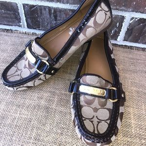 Coach FELISHA Brown Loafers 8.5